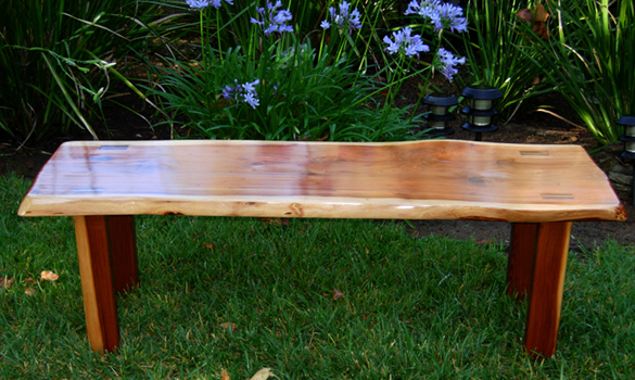 Redwood Plank Coffee Table