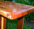 Redwood Plank Coffee Table Detail