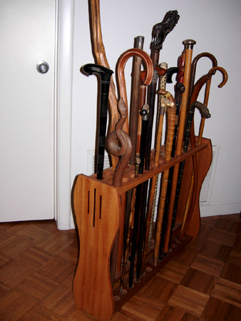 Walking Stick Display Rack